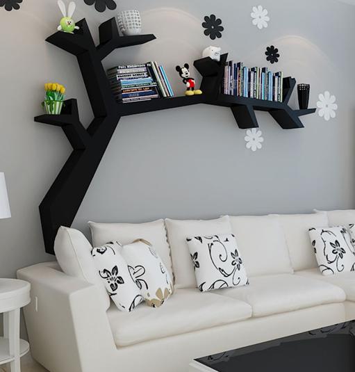 创意利用大白墙,有趣的置物架创意设计