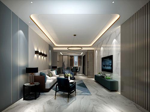 海珀兰轩133平米现代轻奢风格betway官网下载效果图
