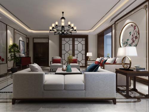 天山熙湖170平米新中式风格装修效果图