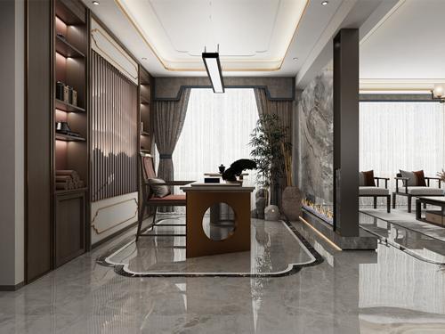 悦海天润府168平米新中式装修风格
