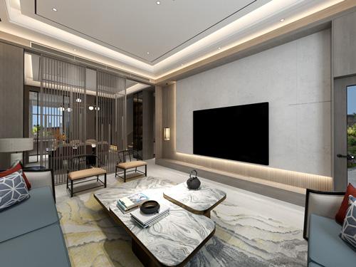 银川院子193平米新中式装修效果图