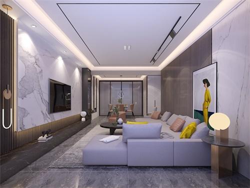 中海悦府127平米现代装修效果图