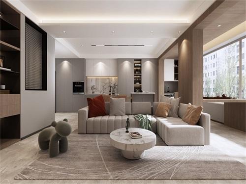 海珀兰轩99平米现代简约风格效果图