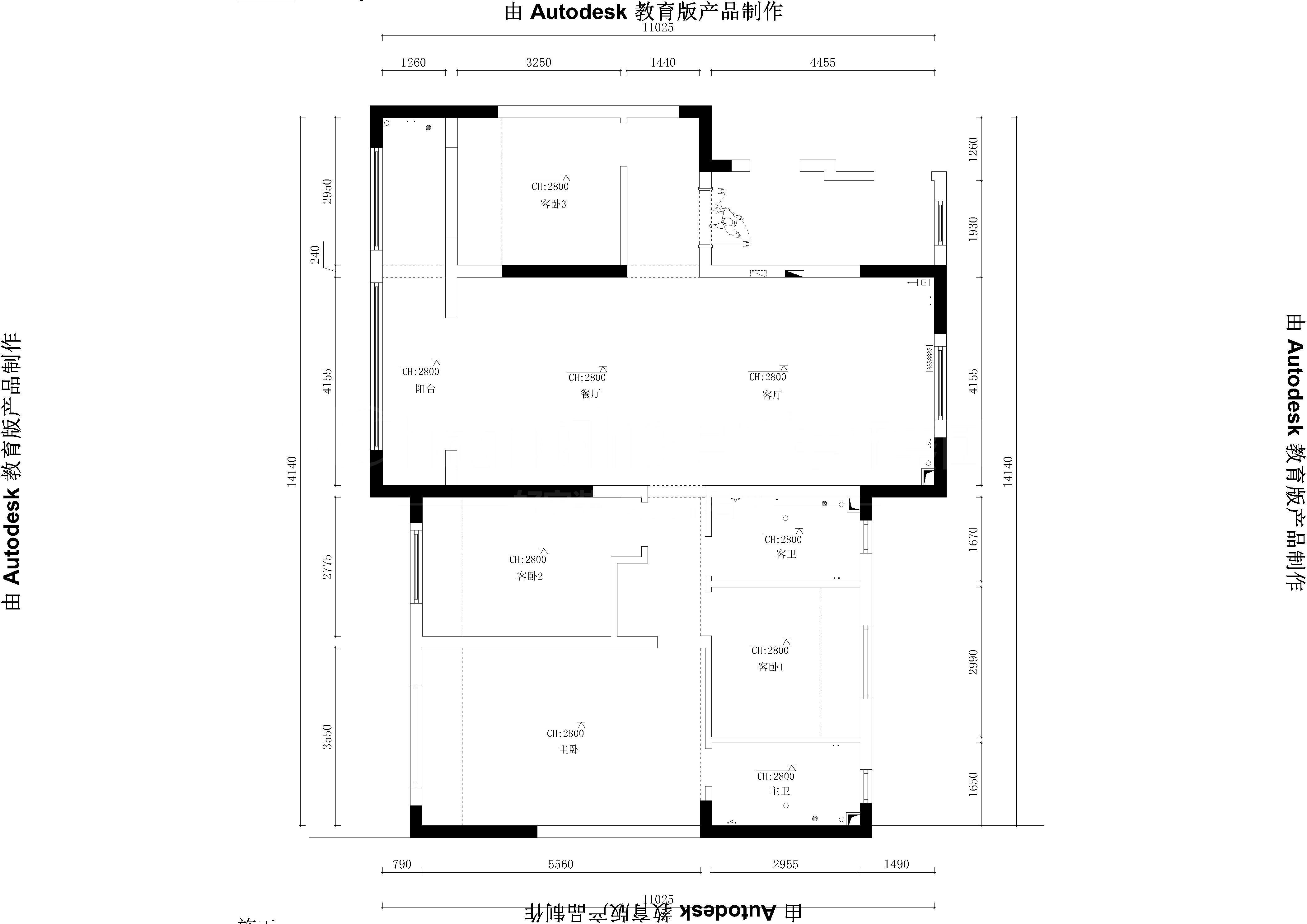中海伯悦公馆-Model原始施工图